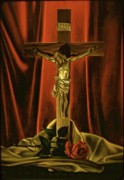 Crucifix Paintings - Forgive Us Our Thorns by Anthony Bonagura
