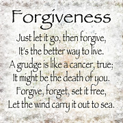 Forgiveness Prints - Forgiveness Print by Andee Photography