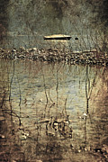 Reflecting Water Posters - Forgotten Boat Poster by Joana Kruse