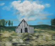Farm Buildings Painting Originals - Forgotten by Candace Shockley