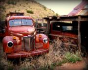 Rusted Cars Framed Prints - Forgotten classics Framed Print by Perry Webster