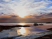 Sunset Seascape Framed Prints - Forgotten Coast Framed Print by Rick McKinney