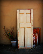 Paint Photograph Prints - Forgotten Door Print by Perry Webster
