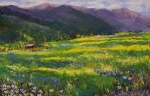 Mountains Pastels Prints - Forgotten Field Print by David Patterson
