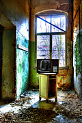 Haunted House Photos - Forgotten hospital TV by Nathan Wright
