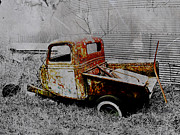 Chevy Pickup Prints - Forgotten Print by Julie Hamilton