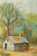 Old House Pastels Prints - Forgotten Print by Pat Neely