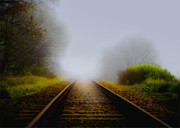 Train Track Prints - Forgotten Railway Track Print by Svetlana Sewell