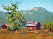 Oregon Pastels Prints - Forgotten Ranch Print by Nancy Jolley