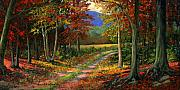 Autumn Landscape Paintings - Forgotten Road by Frank Wilson