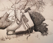Skates Prints - Forgotten Print by Saundra Smoker