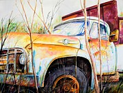 Rusty Truck Paintings - Forgotten Truck by Scott Nelson