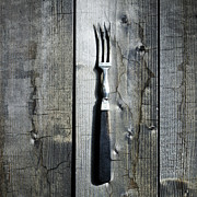 Wooden Table Prints - Fork Print by Joana Kruse