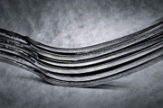 Stainless Steel Prints - Forks - Antique Look Print by  Onyonet  Photo Studios