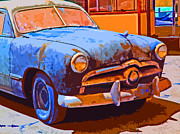 Sam Sheats Framed Prints - Forlorn 1949 Ford  Front Study Framed Print by Samuel Sheats