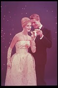 Champagne Metal Prints - Formal Couple Having Champagne Metal Print by Archive Holdings Inc.