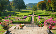 Indiana Autumn Metal Prints - Formal Garden I Metal Print by Steven Ainsworth