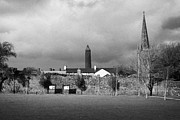 Buidling Metal Prints - Former Castle And Bishops Palace And Workhouse Site With Cathedral And Round Tower Killala Metal Print by Joe Fox