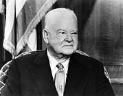 1950s Candids Photos - Former President Herbert Hoover by Everett