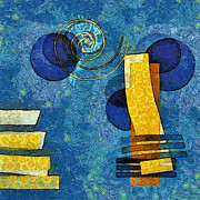Blue Abstract Art Art - Formes - 09g by Variance Collections