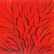Jane Wilcoxson Art Painting Prints - Forrest Fire Print by Jane Wilcoxson