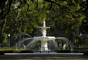 Oaks Framed Prints - Forsyth Fountain 1858 Framed Print by David Lee Thompson