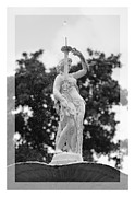 Forsyth Park Photos - Forsyth Fountain - Black and White 2 by Carol Groenen