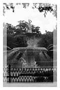 Forsyth Park Photos - Forsyth Park Fountain - Black and White by Carol Groenen