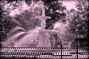 Forsyth Park Photos - Forsyth Park Fountain in Pink by Carol Groenen