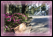 Forsyth Park In Spring Pink Print by Carol Groenen