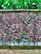 Fort Canning Digital Art Posters - Fort Cannings Mural wall Poster by Steve Taylor