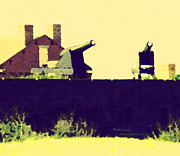 Blue Brick Mixed Media Prints - Fort Clinch Print by Patricia Januszkiewicz