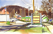 American City Mixed Media Prints - Fort Davidson Memorial Pilot Knob Missouri Print by Kip DeVore