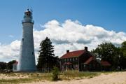 Port Huron Posters - Fort Gratiot Lighthouse Poster by James Marvin Phelps