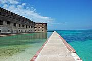 Beach Scenes Photo Metal Prints - Fort Jefferson Dry Tortugas Metal Print by Susanne Van Hulst