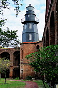 Dry Tortugas Framed Prints - Fort Jefferson Light House Framed Print by Henri Irizarri
