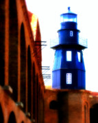 Rustic Art Prints - Fort Jefferson Lighthouse Print by Perry Webster