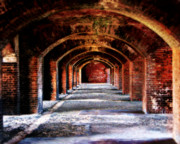 Rustic Art Framed Prints - Fort Jefferson Framed Print by Perry Webster