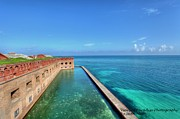 Dry Tortugas Framed Prints - Fort Jefferson Framed Print by Sean Allen
