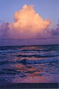 Seascape Photos - Fort Lauderdale Beach Sunset 3  by Trudy Storace