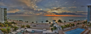 Pool Break Prints - Fort Lauderdale Sunrise Print by Kelly Bryant