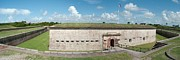 Macon Posters - Fort Macon panorama 1 Poster by Michael Peychich