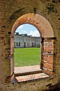 Beaufort Framed Prints - Fort Macon State Park 9081 Framed Print by Michael Peychich