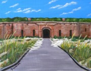 Boardwalk Paintings - Fort Massachusetts Ship Island by JoAnn Wheeler