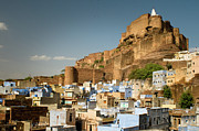 Old Town Acrylic Prints - Fort Mehrangarh And Old Town In Jodhpur Acrylic Print by Ania Blazejewska