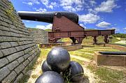 Balls Posters - Fort Moultrie Cannon Balls Poster by Dustin K Ryan