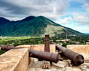 Artillery Metal Prints - Fort Pampatar Old Canons Metal Print by Philip Sweeck