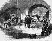 Civil War Time Prints - Fort Pickens Engraving Print by Omikron