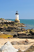 Catherine White Photo Prints - Fort Pickering Lighthouse Print by Catherine Reusch  Daley