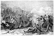 General Forrest Photo Prints - Fort Pillow Massacre, 1864 Print by Granger